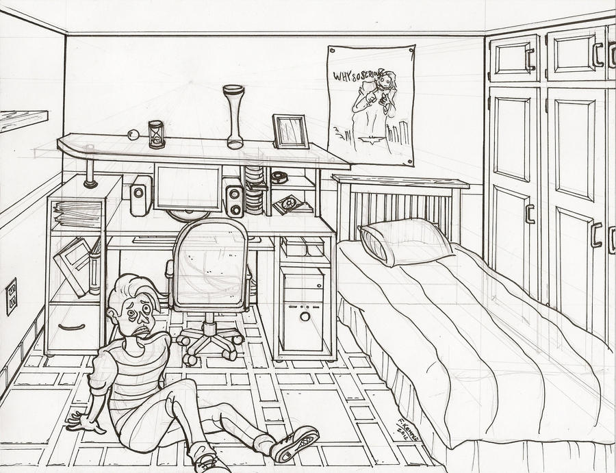Line Drawing Room : Room line drawing by shamash on deviantart