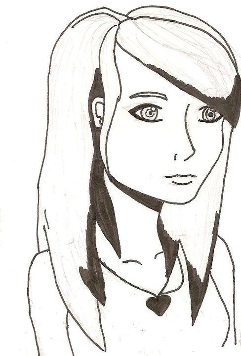 Line Drawing Girl : Girls line drawing