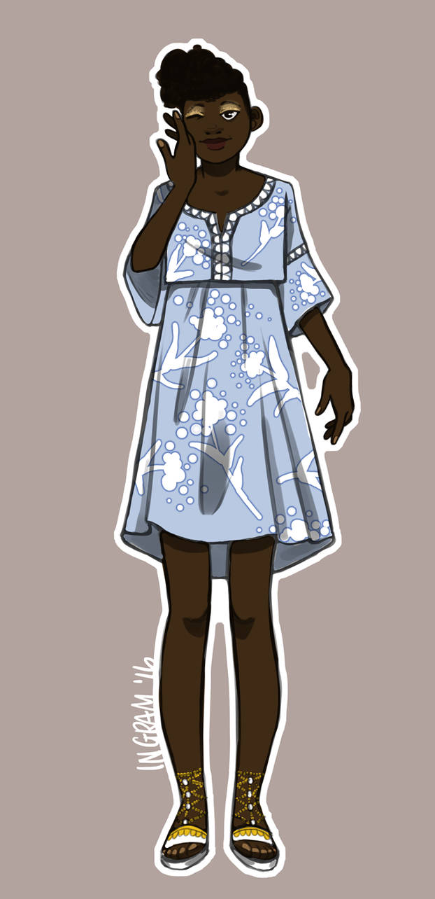 Blue Dress by Amyln
