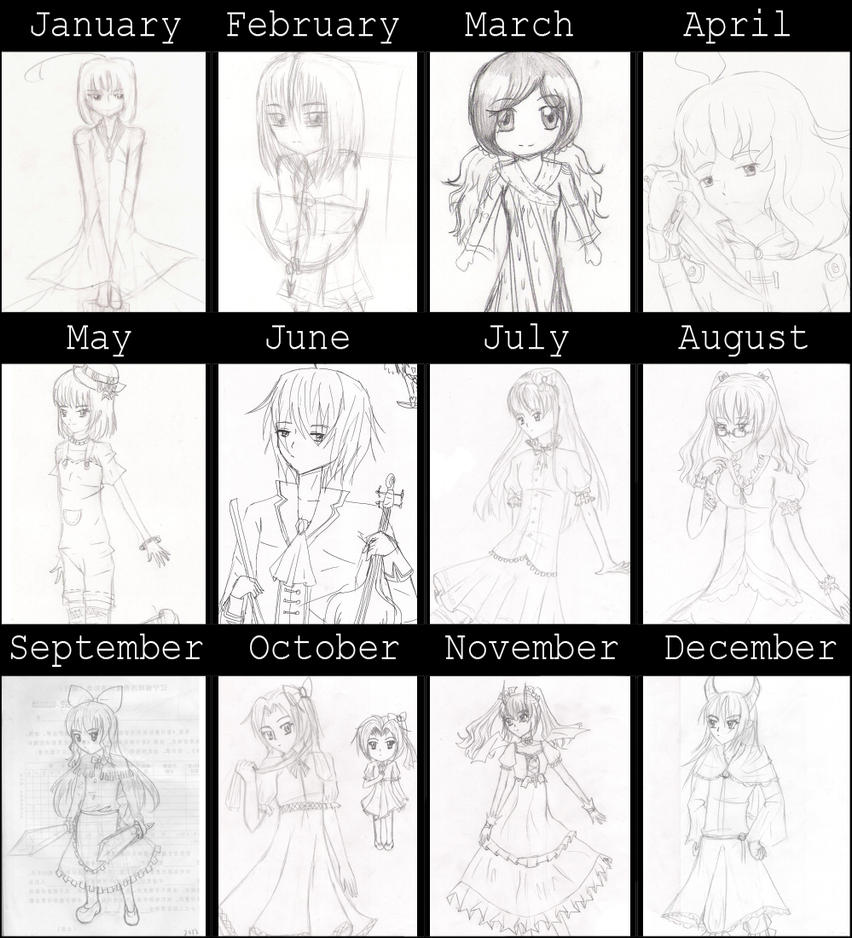2012 summary of sketches by Renny1998