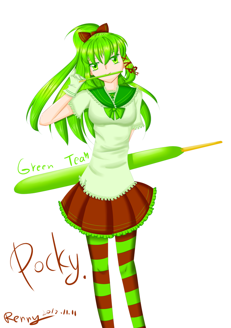 Green tea girl by Renny1998