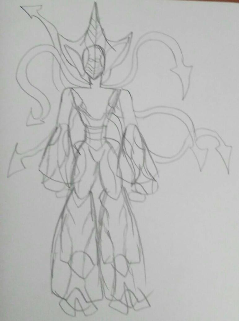 Independence Day Alien-Peridot sketch by XADarkAngelOfDeathX