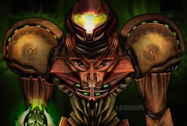 Metroid Concept Suit by LeoDiamond