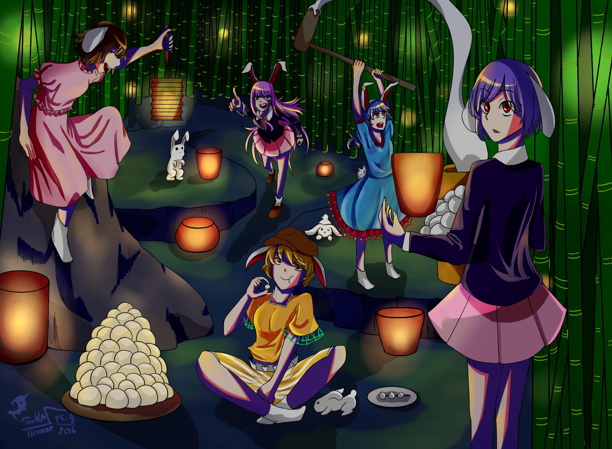 [Gallery] Tankihou: Ổ Dơi - Page 8 The_moon_festival_of_rabbits_by_tinkatiranor-dahsws2