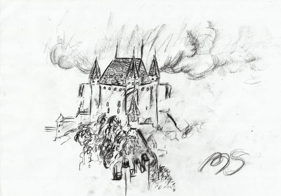 Thun castle sketch by Aioros-sama
