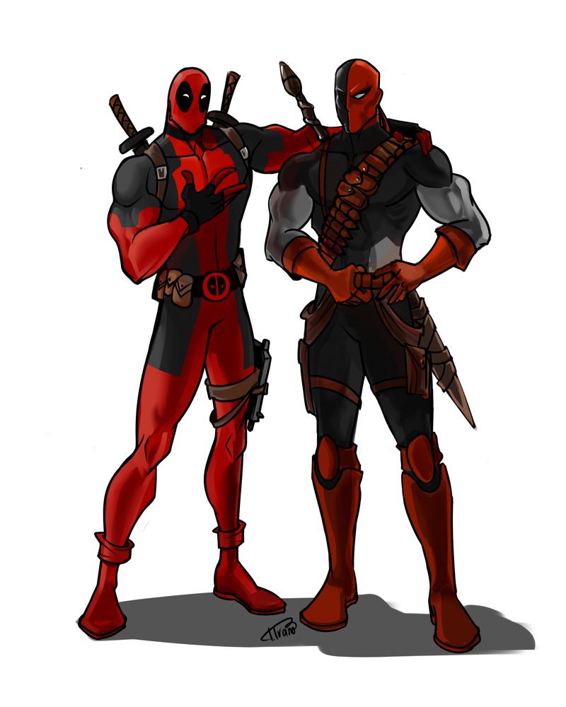 Deadpool and Deathstroke by Ferroconcrete247