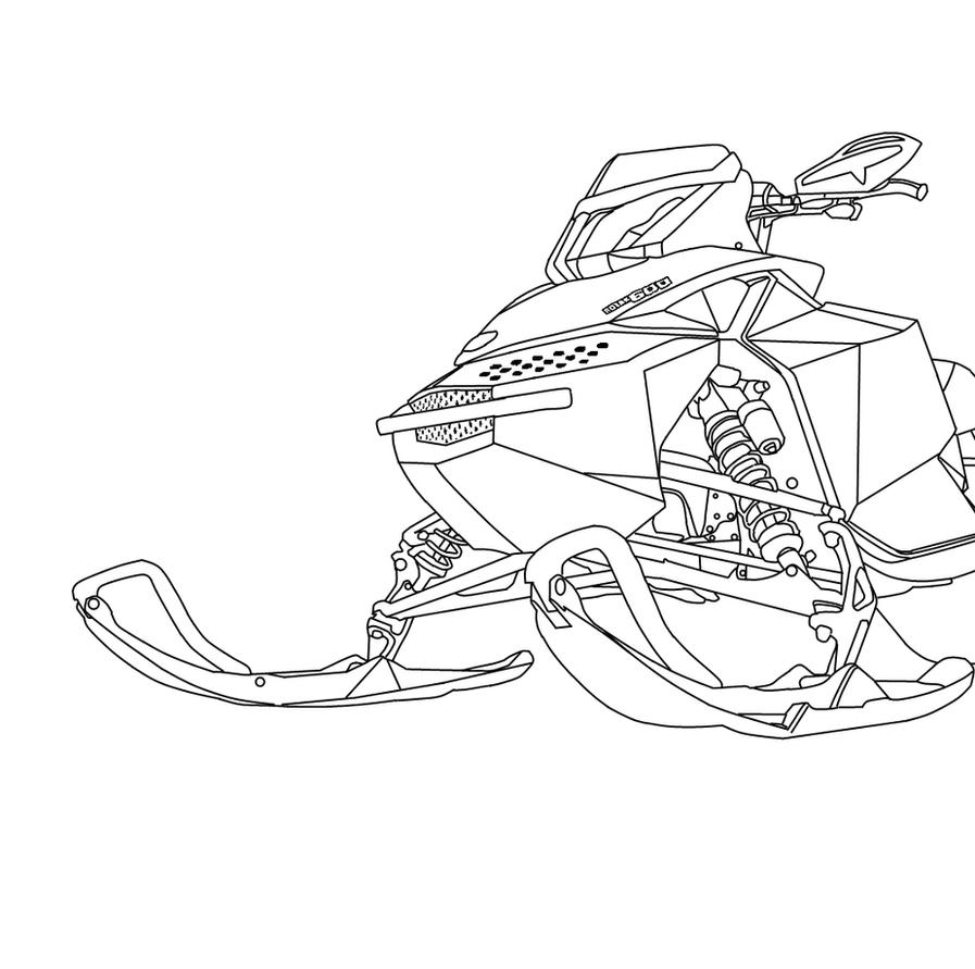 snowmobile coloring pages - photo#15