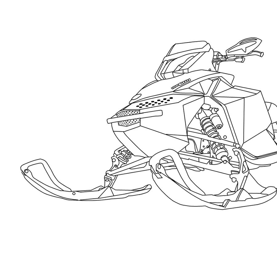 snowmobile coloring pages - photo#26