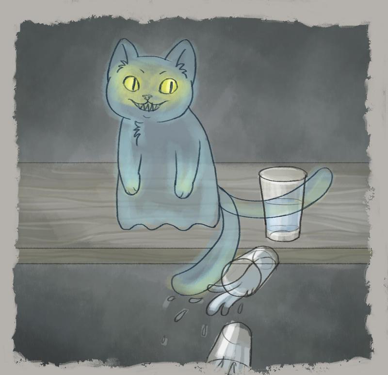 Ghost - Drawlloween doodle by Syakai