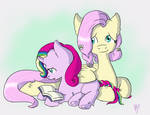 Harmony and Fluttershy - Learning to Read