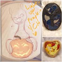 [Closed]Light Up Pumpkin Plaque - YCH