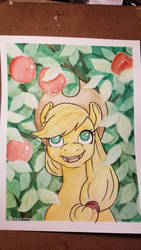 Apple Horse Watercolor by chipperpony