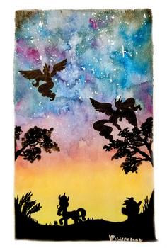 Alicorn Night Watercolor