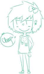 gaia: sketch of my avi by TacoFag
