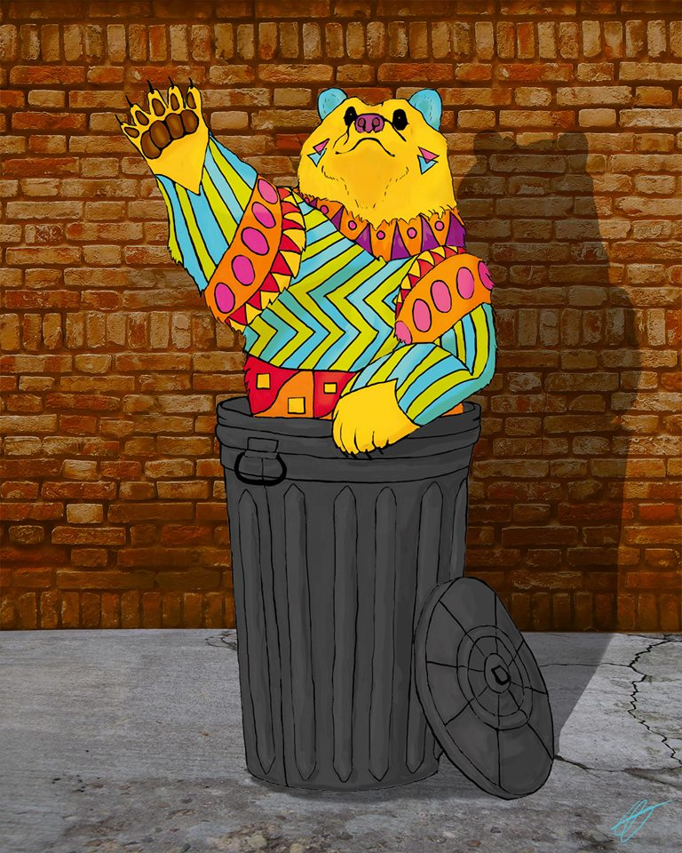 Trashcan Bear by Indestrocto