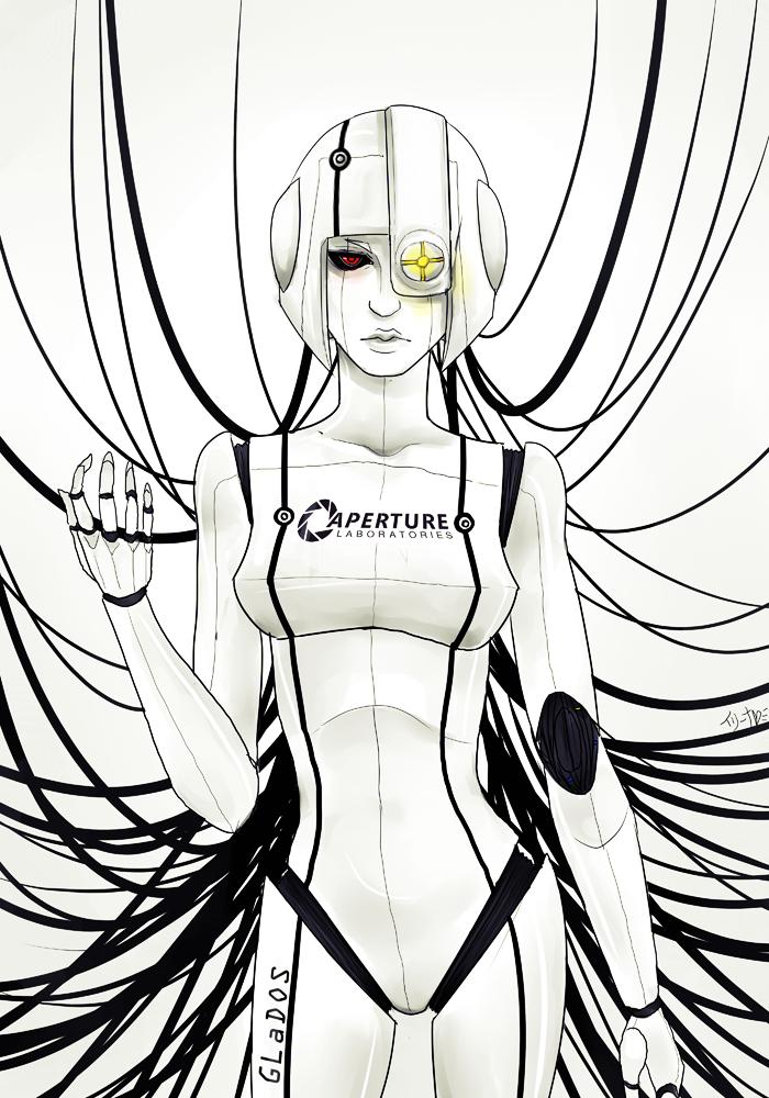 Human GLaDOS Design by TwinklePowderySnow on DeviantArt