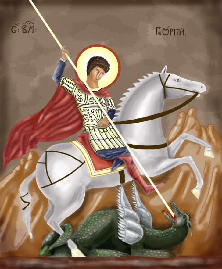 st george icon by walking with gods on deviantart