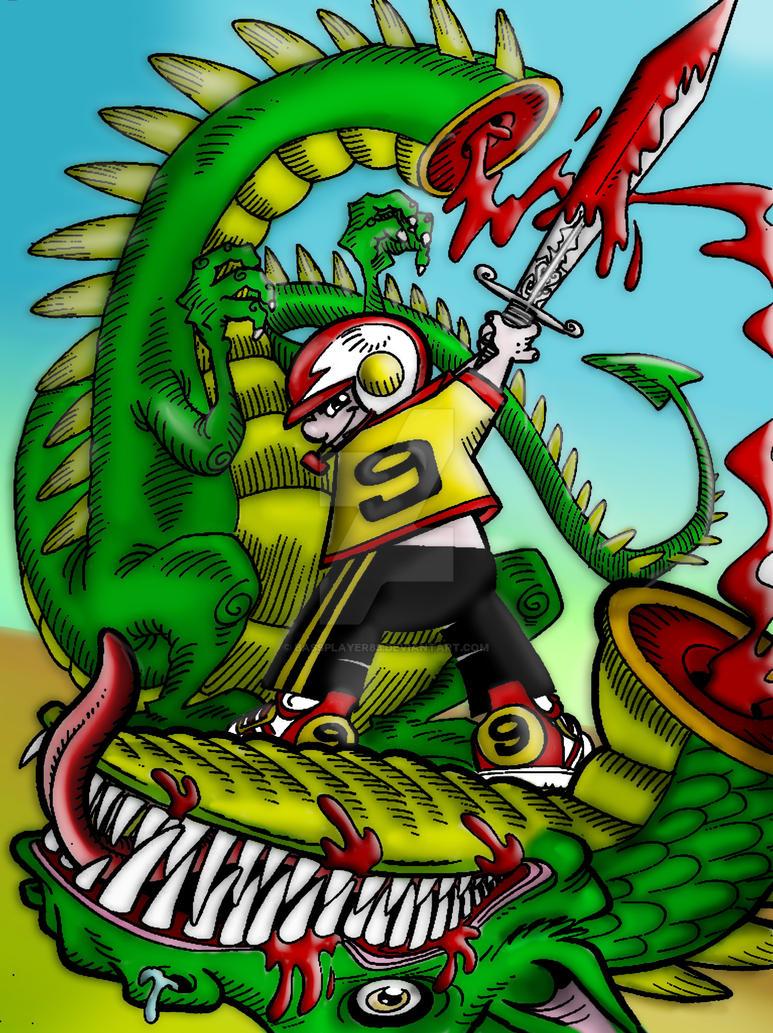 Giovane cacciatore di draghi by bassplayer83