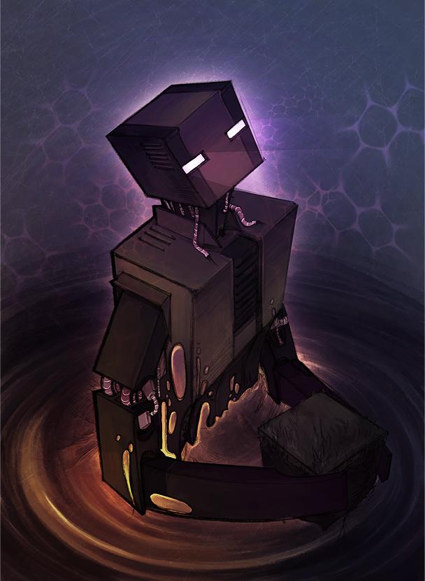 Enderman Robot by Iya-Kandie-Red
