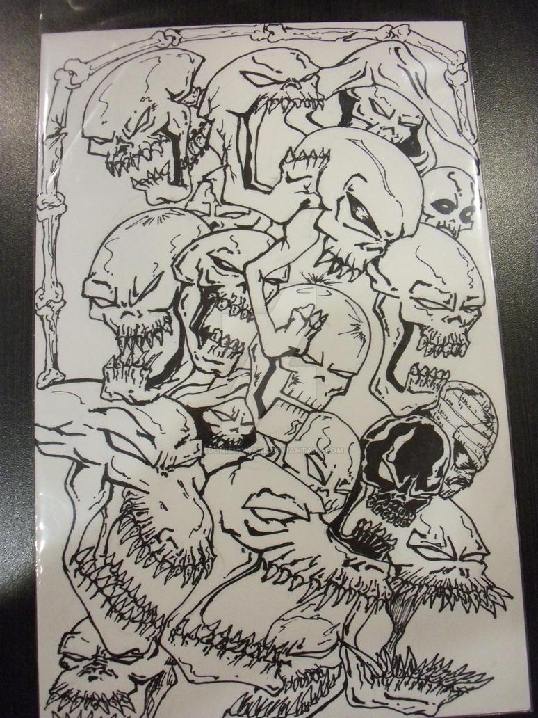 Pile o Skulls by adonishoward