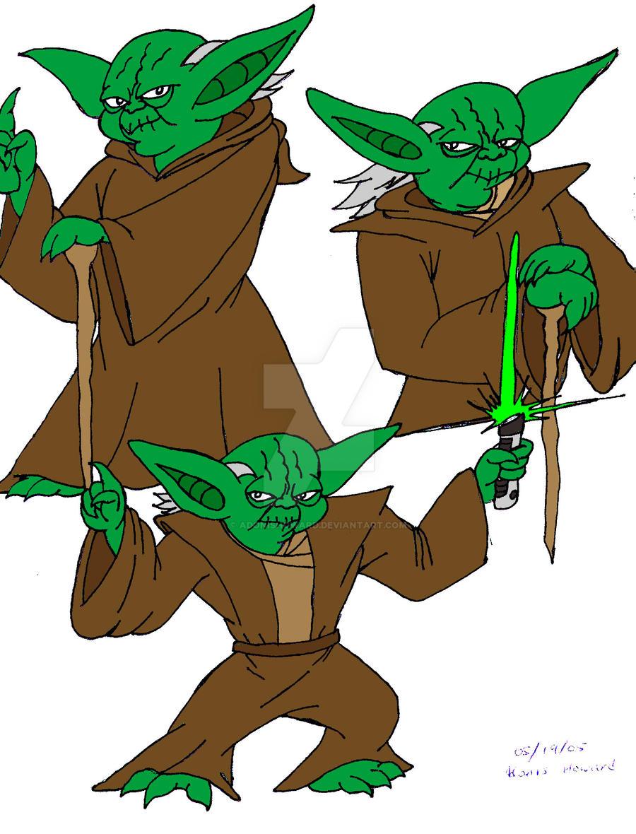 Yoda model sheet by adonishoward