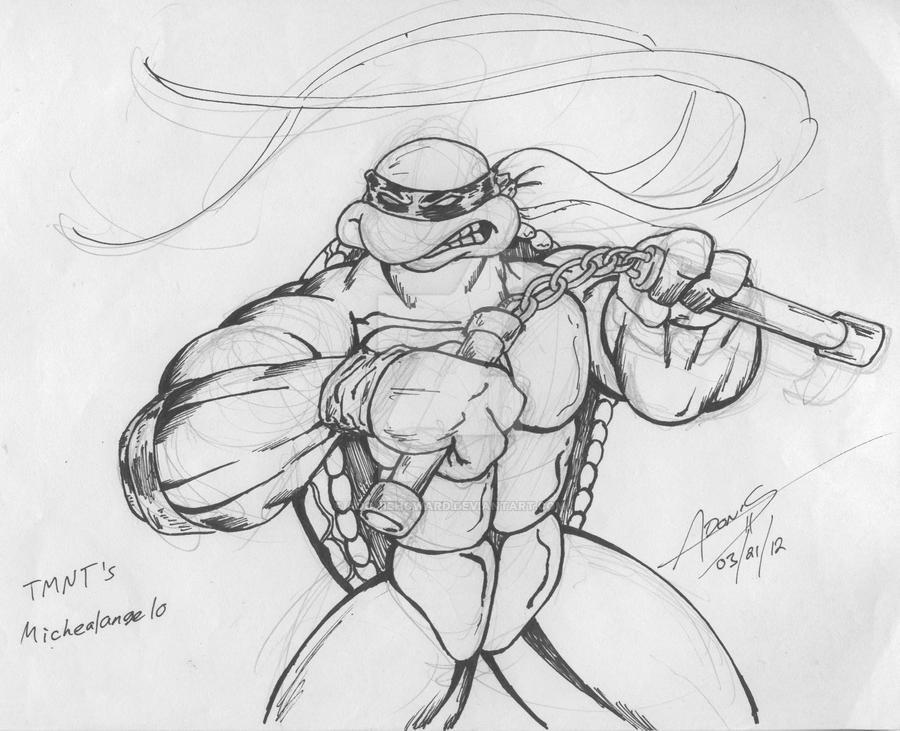 TMNT's Michelangelo by adonishoward