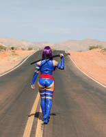 Valley of Fire Psylocke Photoshoot 6 by CarolineCosplay