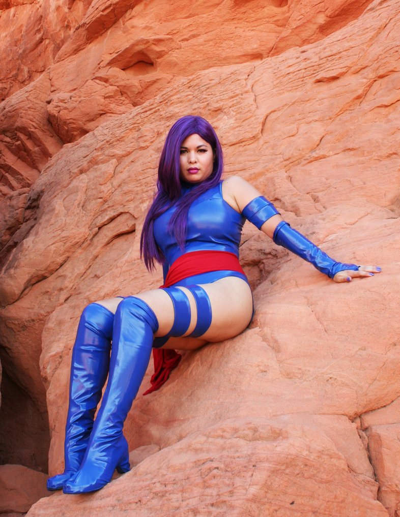 Valley of Fire Psylocke Photoshoot 8 by AsianPsylocke