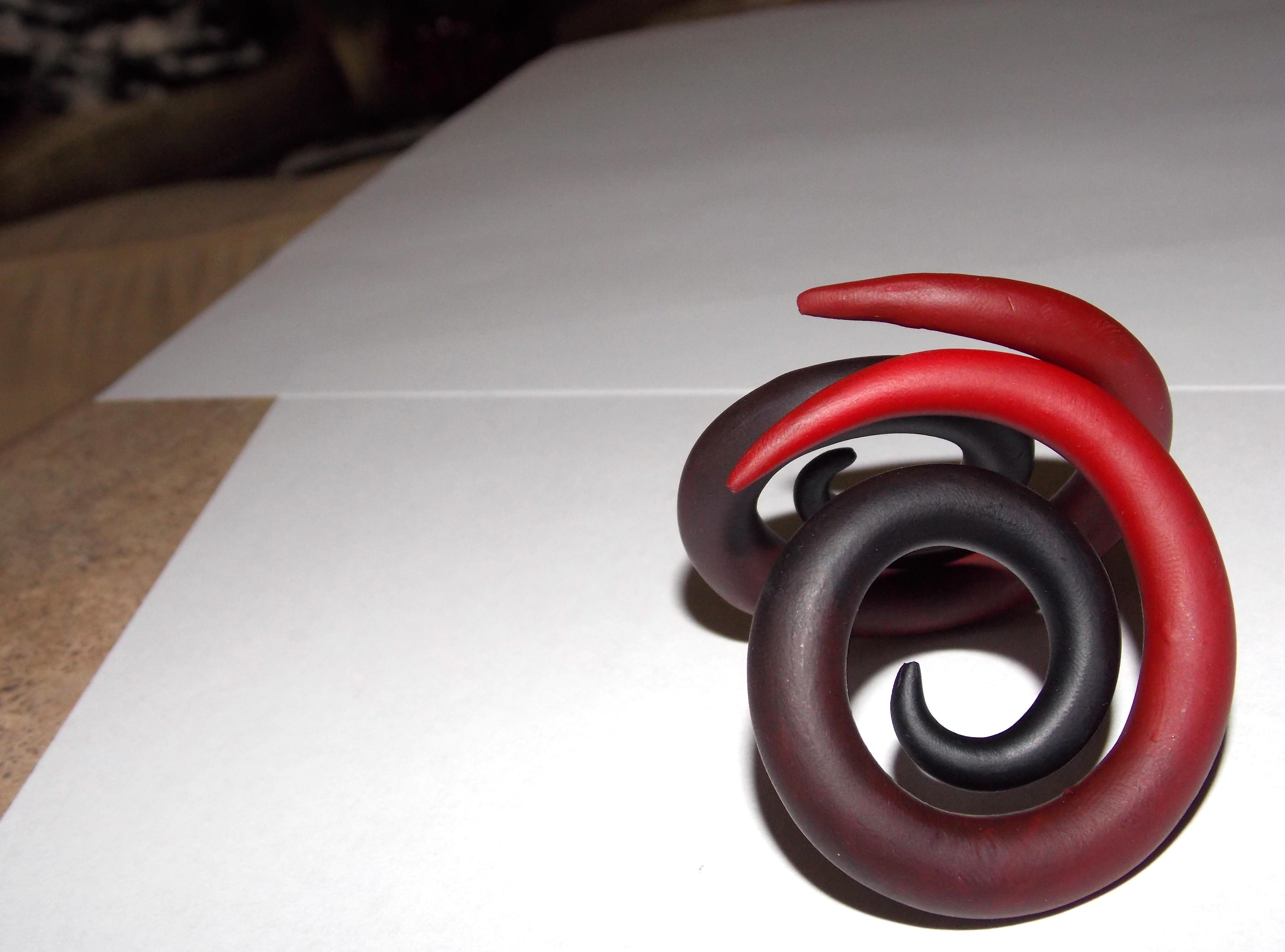 Gothic Gradient Spiral Plugs by BitternessPrincess