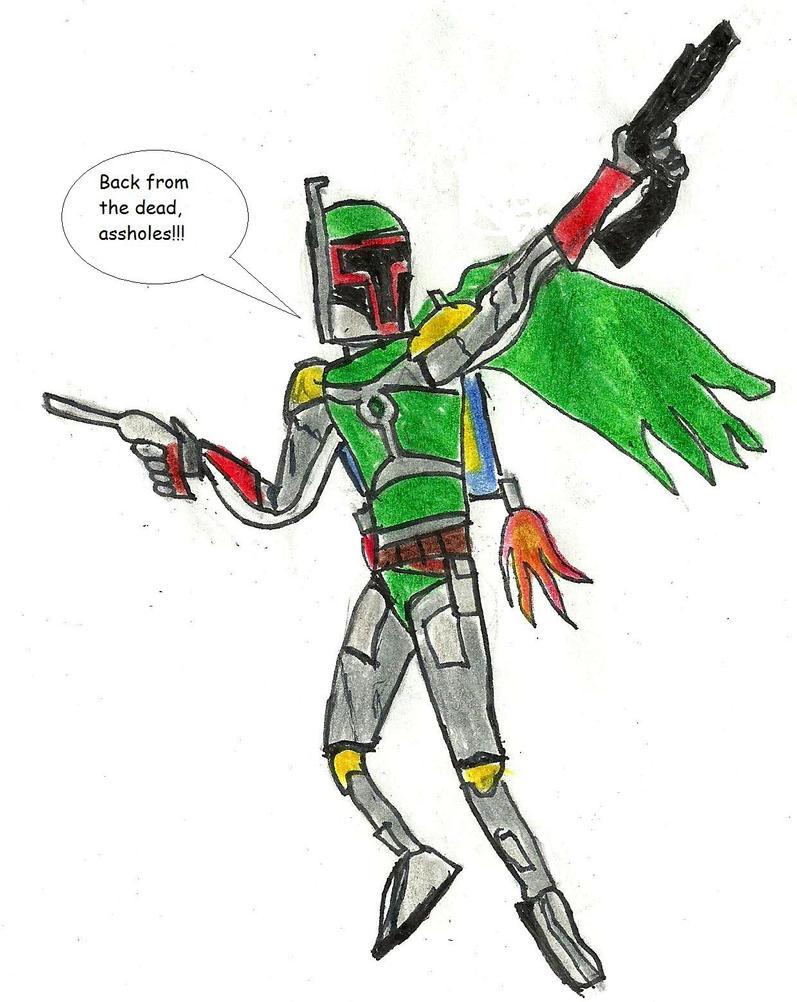 Fett's back from the dead. by SpiderPotterFan