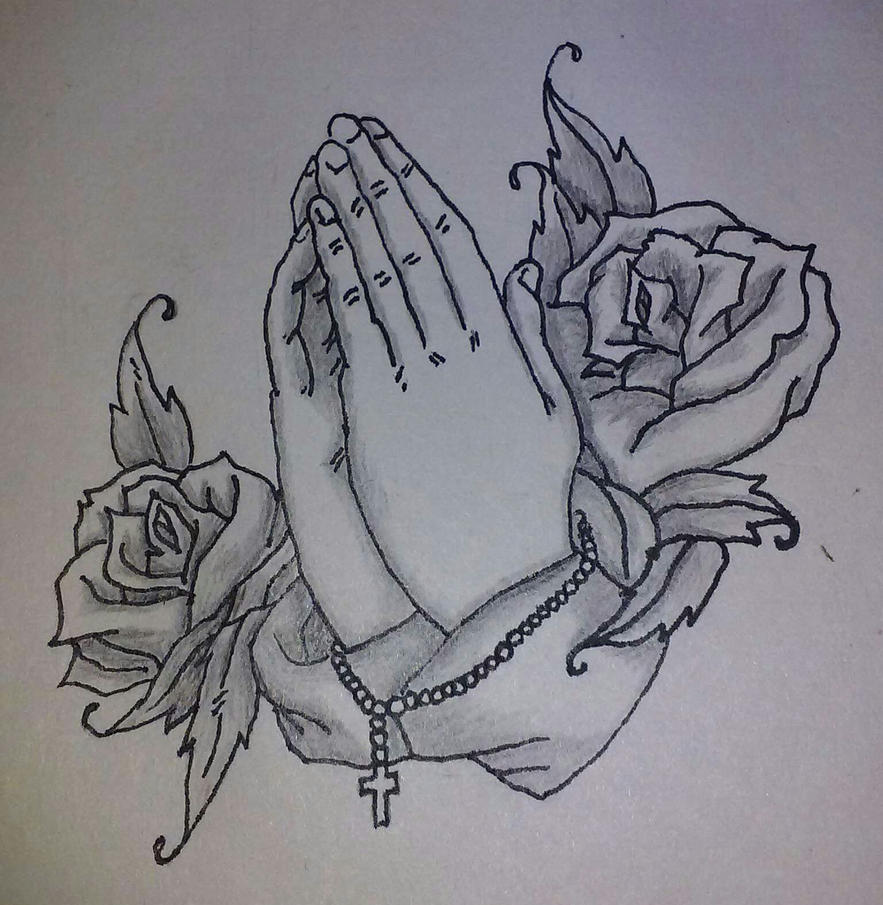 Praying Hands with Rosary by wearefearless on DeviantArt