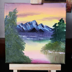 Not Bob Ross Painting #1
