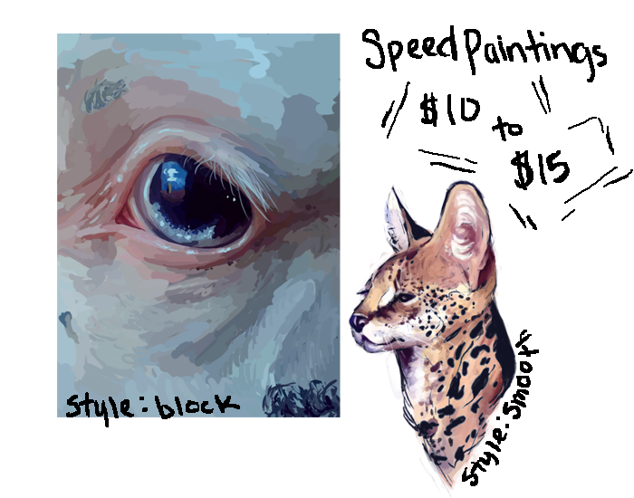Speed Paintings by FAWN-FRECKLES