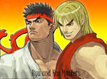 Ryu and Ken Masters