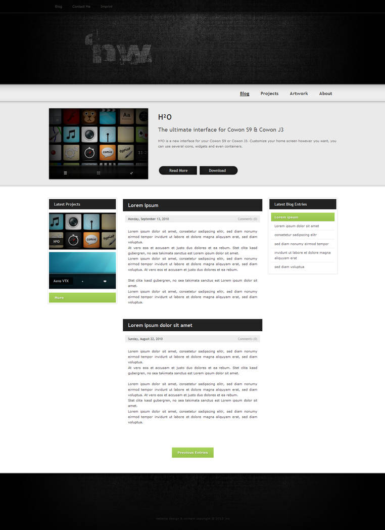 Personal Website WIP by 5nw