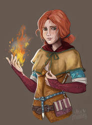 Triss Merigold by Akai-Monkey