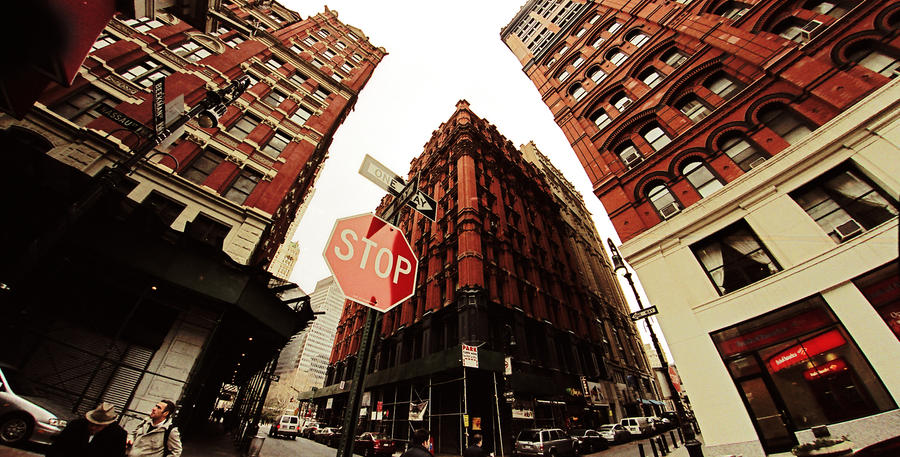 NYC- Red Blocks by PeeAsH