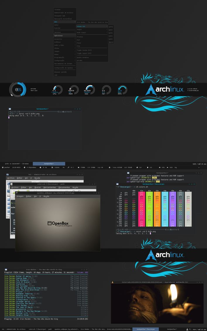 Archlinux and OpenBox by pnthr