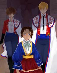 AA - royal retinue by Pikakus