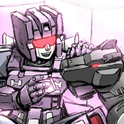 G1 Rumble and Ravage by yorozubussan
