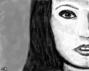 Megan Fox Black and White