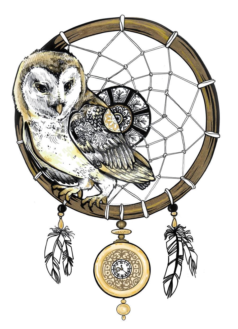 Owl dreamcatcher drawing - photo#32
