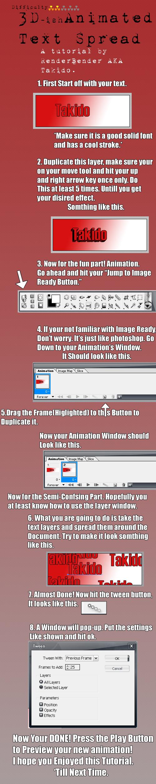3D Animated Text Spread