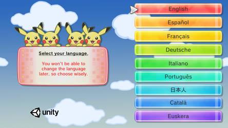 New Language Selection