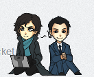 Sherlock and Jim by AStolenRelic