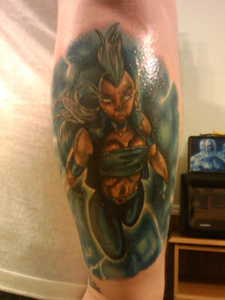 Storm Tattoo touched up by avatarscherubimX Men Storm Tattoo