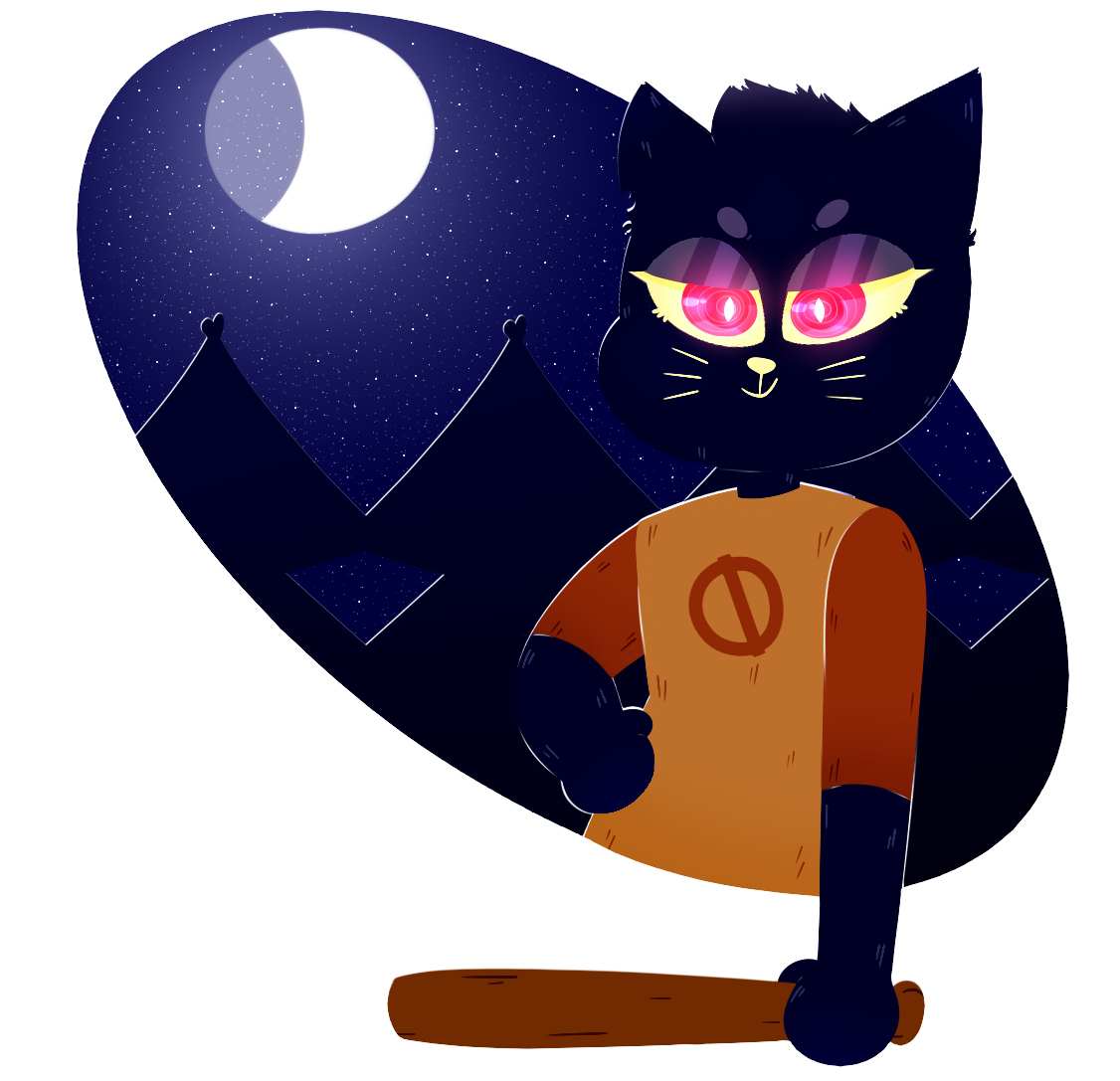 how to draw night in the woods mae