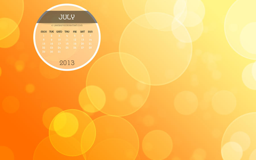 Desktop Calendars For July 2013 Search Results