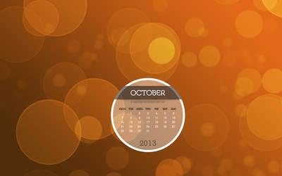 Bokeh Desktop Wallpaper Calendar October 2013