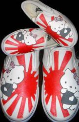 Rising Sun Hello Kitty Vans by LeLe829